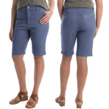 Amanda Bermuda Jean Shorts (For Women) in Periwinkle - 2nds