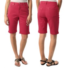 Amanda Bermuda Jean Shorts (For Women) in Pink - 2nds