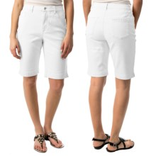 Amanda Bermuda Jean Shorts (For Women) in White - 2nds
