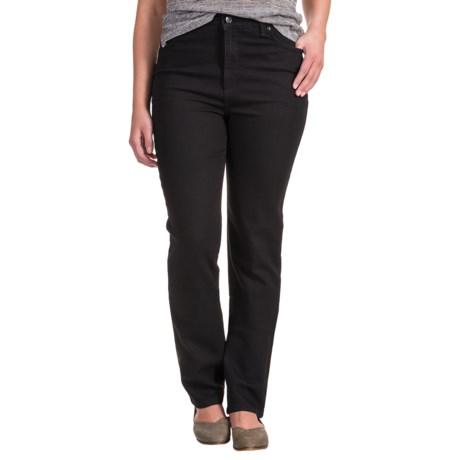 Amanda Straight Jeans - Embellished Back Pockets (For Women) in Black