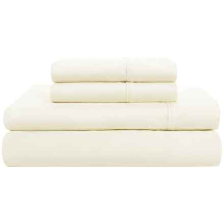 Amante Home Cotton Sateen Sheet Set - King, 500 TC in Ivory - Closeouts