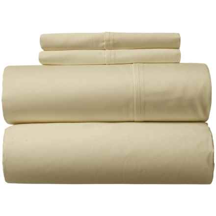 Amante Home Solid Cotton Sateen Sheet Set - Queen, 500 TC in Sage - Closeouts