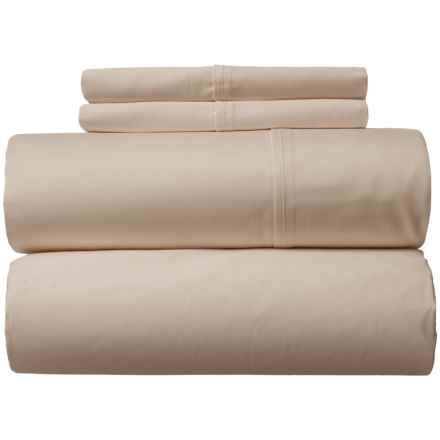 Amante Home Solid Cotton Sateen Sheet Set - Queen, 500 TC in Tan - Closeouts