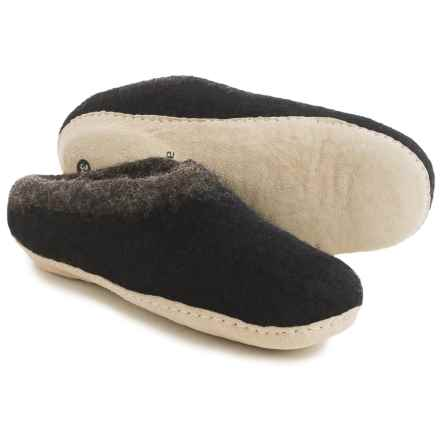 Ambler Mountain Slocan Wool Slippers (For Women) in Black - Closeouts
