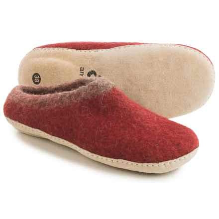 Ambler Mountain Slocan Wool Slippers (For Women) in Burgundy - Closeouts
