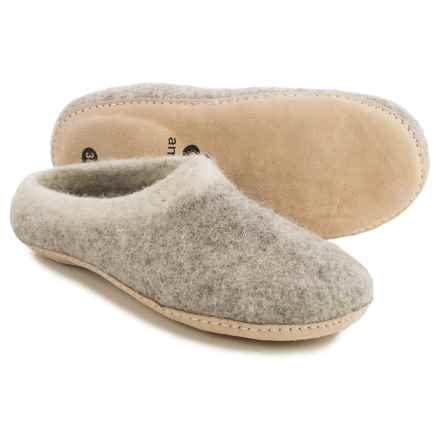 Ambler Mountain Slocan Wool Slippers (For Women) in Heather Grey - Closeouts
