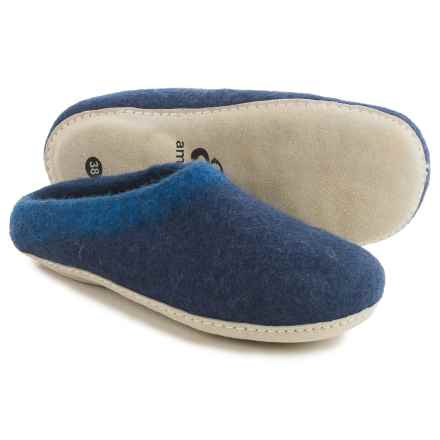 Ambler Mountain Slocan Wool Slippers (For Women) in Midnight - Closeouts