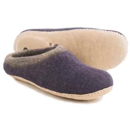 Ambler Mountain Slocan Wool Slippers (For Women) in Purple Haze - Closeouts