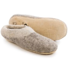 Ambler Mountain Wool Slippers (For Men and Women) in Heather Grey - Closeouts