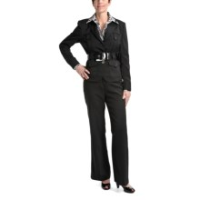 Amelia Austin Belted Trench Pantsuit (For Women) in Black - Closeouts