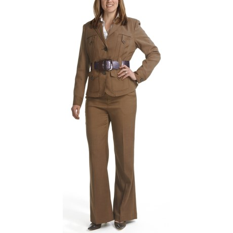 Amelia Austin Belted Trench Pantsuit (For Women) in Black