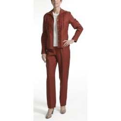 Amelia Austin Washed Linen Pants - Tapered Leg (For Women) in Rust