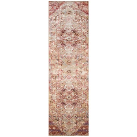 Amelia Medallion Rose Vintage Floor Runner - 2?3?x7?6?