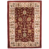 Amer Cardinal Collection Floral Diamonds Accent Rug - 2x3', New Zealand Wool-Cotton