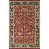 Amer Cardinal Collection Floral Diamonds Accent Rug - 3x5', New Zealand Wool-Cotton