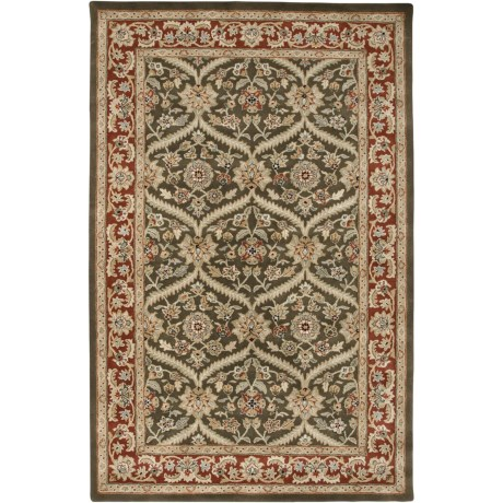 """Amer Cardinal Collection Rope Medallions Accent Rug - 3'6""""x5'6"""", New Zealand Wool in Cocoa Brown/Red"""