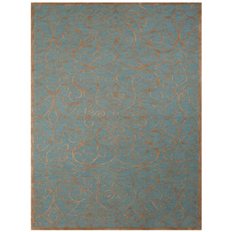 Amer Glow Collection Forest and Blue Scatter Accent Rug - 2x3' in Forest/Blue