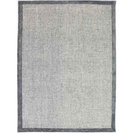 "Amer Idina Hand-Tufted Wool Area Rug - 7'6""x9'6"" in Slate - Closeouts"