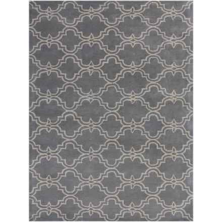 Amer Modern Collection Wool Area Rug - 5x8' in Gray - Closeouts