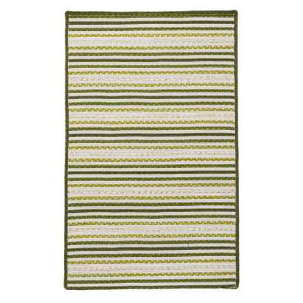 Amer Morro Bay Braided Indoor-Outdoor Accent Rug - 3x5' in Avocado - Closeouts