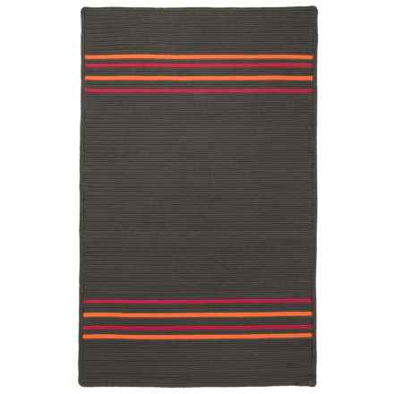Amer Morro Bay Braided Indoor-Outdoor Accent Rug - 3x5' in Charcoal - Closeouts