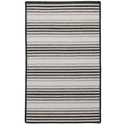 Amer Morro Bay Braided Indoor-Outdoor Accent Rug - 3x5' in Salt And Pepper - Closeouts