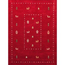 Amer Nomadic Area Rug - 5x8', Wool-Cotton in Red - Closeouts
