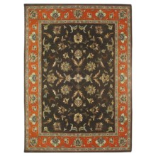 Amer Tuscany Area Rug - 8x10', Wool-Cotton in Grey/Rust - Closeouts