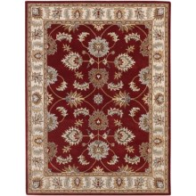 Amer Tuscany Area Rug - 8x10', Wool-Cotton in Red/Beige - Closeouts