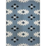 Amer Zara Collection Blue Area Rug - 5x8', Wool Blend
