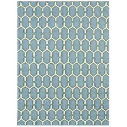 Amer Zara Collection Sky Blue Area Rug - 5x8' in Sky Blue - Closeouts