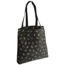 AmeriBag® Dragonfly Collection Tote Bag in Black - Closeouts