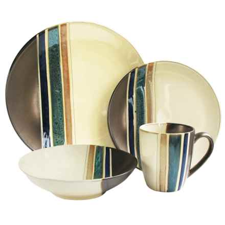 American Antelier Newport Earthenware Dinnerware Set - 16-Piece in Multi - Overstock