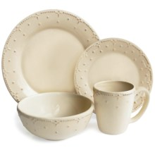 American Atelier Genevieve Dinnerware Set - 16-Piece, Ceramic in Cream - Closeouts
