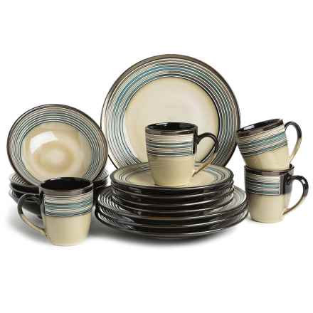 American Atelier Savannah Collection Earthenware Dinnerware Set - 16-Piece in Multi - Closeouts