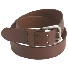 American Beltway 2-Prong Belt - Leather (For Men) in Brown - Closeouts