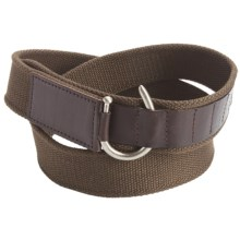 American Beltway Canvas and Leather Belt (For Men) in Brown - Closeouts