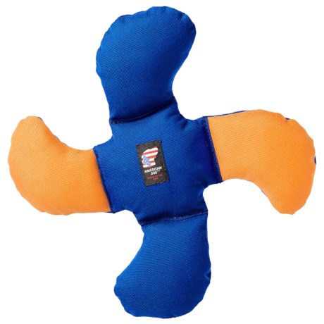 American Dog Lucky Dog Star Dog Toy in Blue/Yellow