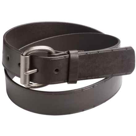 American Endurance 42mm Leather Belt - Barbed Wire Embossed Pattern (For Men) in Brown - Closeouts