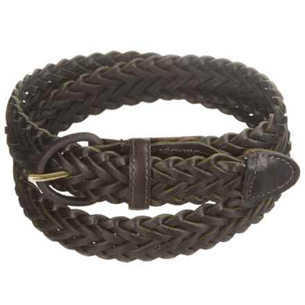 American Endurance Braided Leather Belt (For Men) in Brown - Closeouts