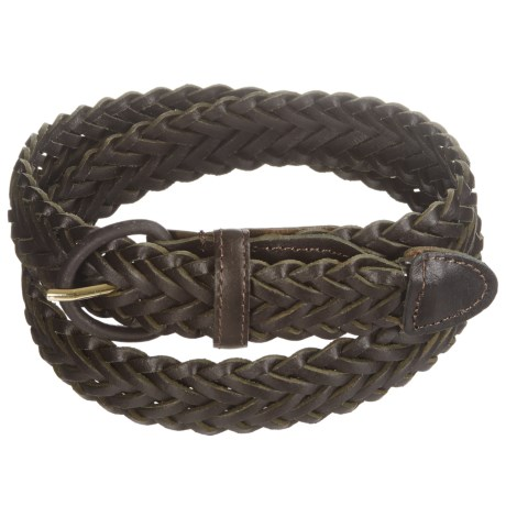 American Endurance Braided Leather Belt (For Men) in Brown