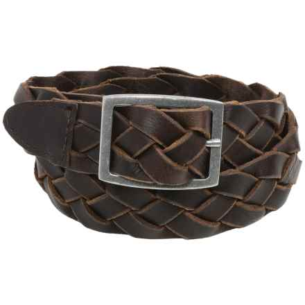 American Endurance Braided Leather Belt - Nickel Buckle (For Men) in Brown - Closeouts