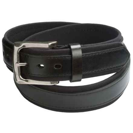 American Endurance Cordura®-Leather Belt (For Men) in Black - Closeouts