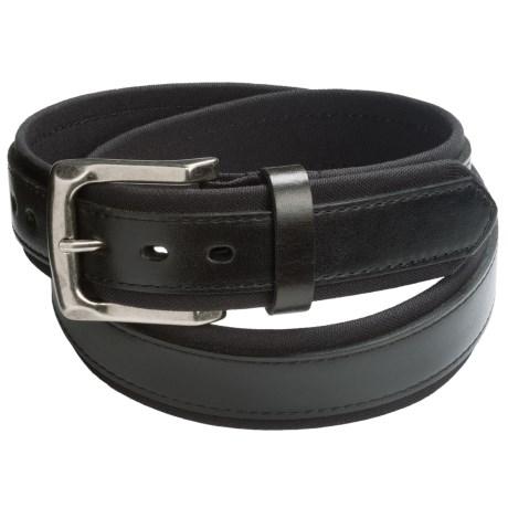 American Endurance Cordura®-Leather Belt (For Men) in Black