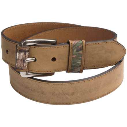 American Endurance Crazy Horse Leather Belt (For Men) in Tan - Closeouts