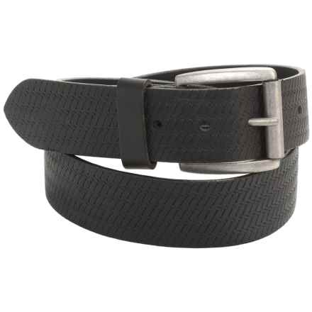 American Endurance Embossed Belt - Leather (For Men) in Black - Closeouts
