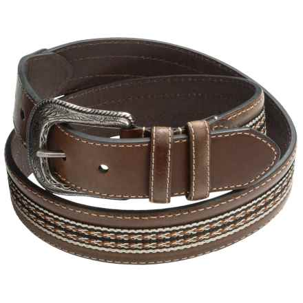 American Endurance Inlay Braid Belt (For Men) in Brown - Closeouts