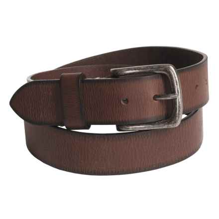 American Endurance Leather Belt (For Men) in Brown Burnished - Closeouts