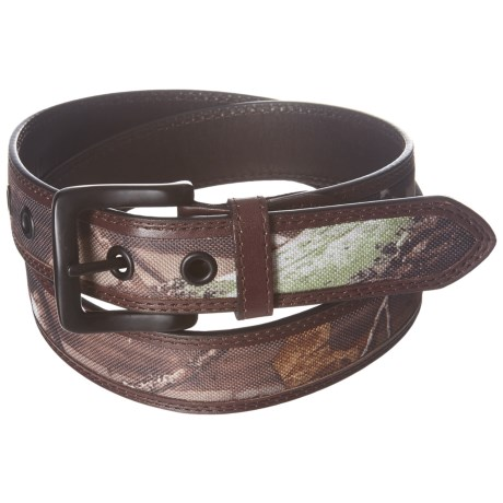 American Endurance Leather-Trimmed Camo Belt (For Men) in Brown/Camo
