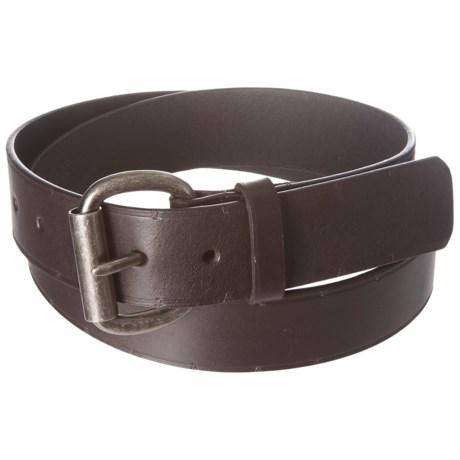 American Endurance Roller Buckle Leather Belt (For Men) in Brown